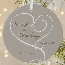 Our Engagement 1-Sided Matte Christmas Ornament