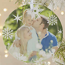 Snowflake 1-Sided Matte Christmas Ornament