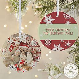 Snowflake 2-Sided Matte Christmas Ornament