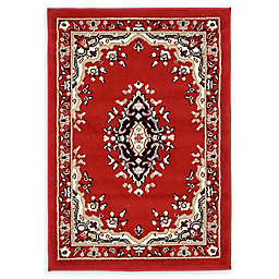 Unique Loom Washington Mashad 2'2 x 3' Powerloomed Area Rug in Red
