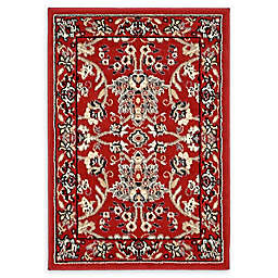 Unique Loom Washington Kashan 2'2 x 3' Powerloomed Accent Rug in Red