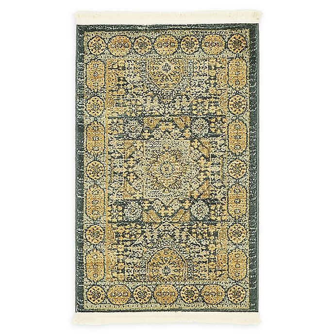 Alternate image 1 for Unique Loom Washington Palace 2' X 3' Powerloomed Area Rug in Blue