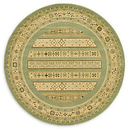Unique Loom Viceroy Nomad 6' Round Area Rug in Light Green