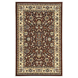 Unique Loom Washington Kashan Rug in Brown