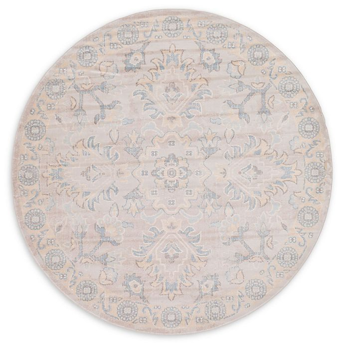 Alternate image 1 for Unique Loom Willow Kensington 6' Round Powerloomed Area Rug in Gray