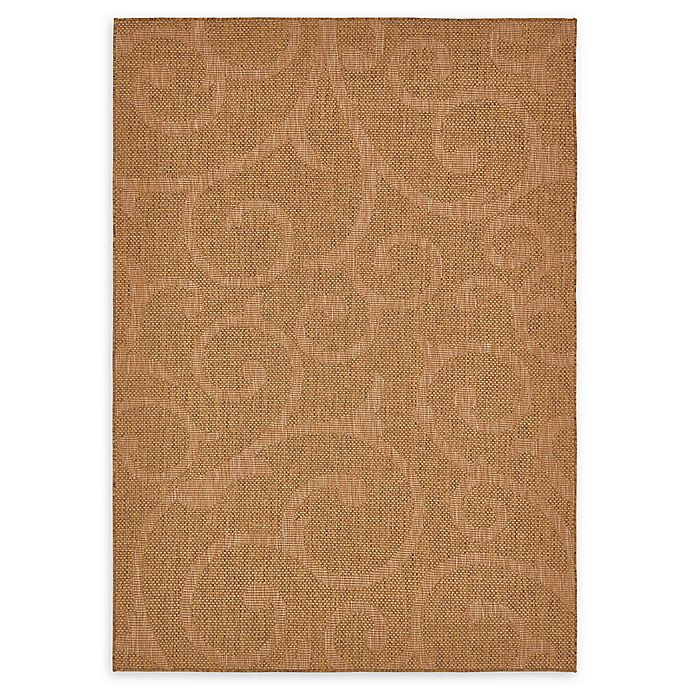 Alternate image 1 for Unique Loom Vine Outdoor 7' X 10' Powerloomed Area Rug in Brown