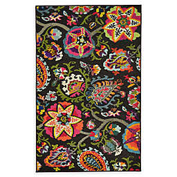 Unique Loom Tuscany Barcelona 3'3 x 5'3 Powerloomed Area Rug in Brown