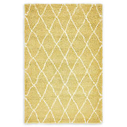 Unique Loom Trellis Marrakesh Shag Rug in Yellow