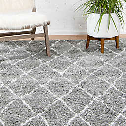 Unique Loom Trellis Marrakesh Shag Powerloomed Rug
