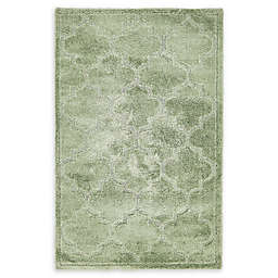 Unique Loom Traditional Trellis Shag Powerloomed Rug in Green