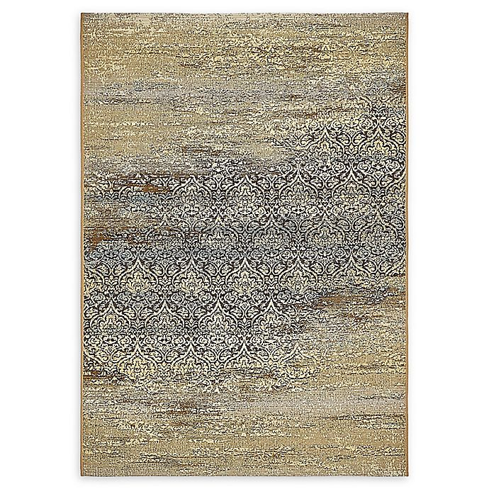 Alternate image 1 for Unique Loom Transitional Eden Outdoor 4' X 6' Powerloomed Area Rug in Beige