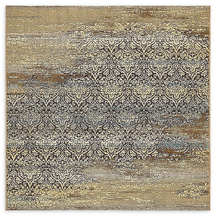 Alternate image 1 for Unique Loom Transitional Eden Outdoor 6' X 6' Powerloomed Area Rug in Beige