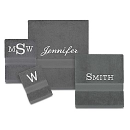 Wamsutta® Icon PimaCott® Monogram Bath Towel Collection