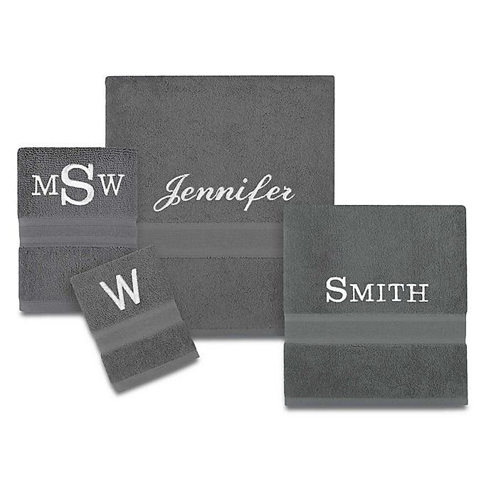 Alternate image 1 for Monogrammed Wamsutta® Icon PimaCott® Towel Collection