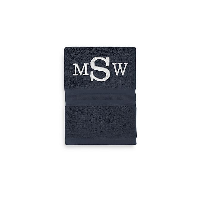 Alternate image 1 for Wamsutta® Personalized Icon PimaCott® Hand Towel in Midnight