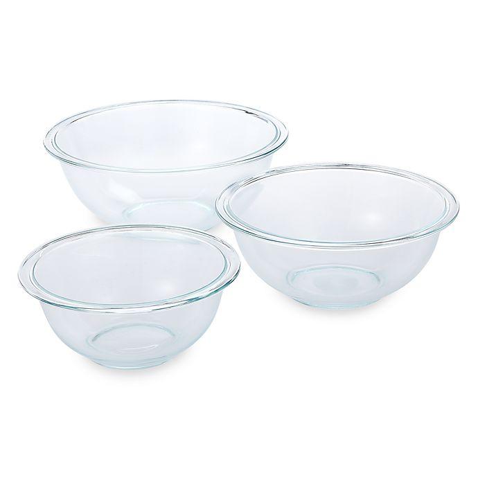 Alternate image 1 for Pyrex® 3-Piece Mixing Bowl Set