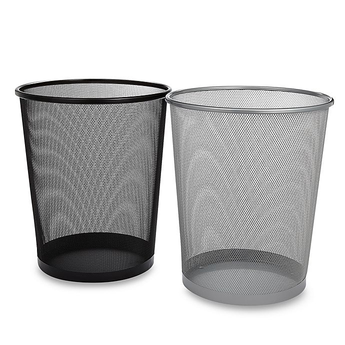 Alternate image 1 for Mesh Metal Wastebasket