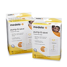 Medela® Pump & Save™ Breastmilk Bags With Easy-Connect Adapter