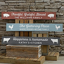 Farmhouse Kitchen 29-Inch x 4-Inch Wood Sign