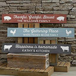 Farmhouse Kitchen 29-Inch x 4-Inch Wood Sign