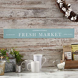 Family Market 29-Inch x 4-Inch Wooden Sign
