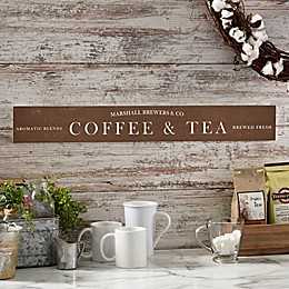 Coffee Bar 29-Inch x 4-Inch Wooden Sign