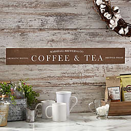 Coffee Bar 29-Inch x 4-Inch Wooden Sign