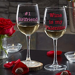 Sweet Drinks Personalized 12oz. White Wine Glass