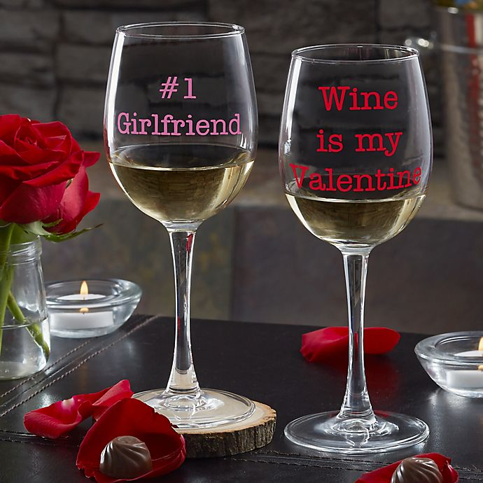 Alternate image 1 for Sweet Drinks Personalized 12oz. White Wine Glass