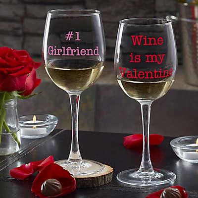 Sweet Drinks Personalized 12oz. White Wine Glass