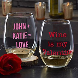 Sweet Drinks Personalized 21 oz. Stemless Wine Glass