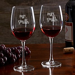 Mr. & Mrs. 19.25 oz. Wedding Wine Glass