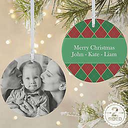 Christmas Argyle 2-Sided Matte Christmas Ornament