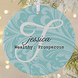 Name Meaning 1-Sided Matte Christmas Ornament