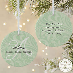Name Meaning 2-Sided Matte Christmas Ornament