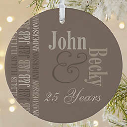Anniversary Memories 1-Sided Matte Christmas Ornament
