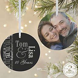 Anniversary Memories 2-Sided Matte Christmas Ornament