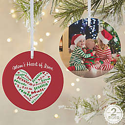Heart of Love 2-Sided Matte Christmas Ornament