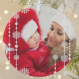 Christmas Snowflake 1-Sided Matte Christmas Ornament