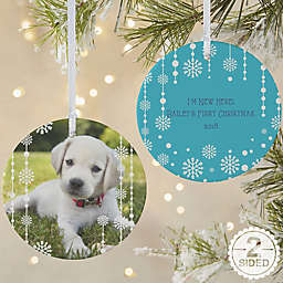 Christmas Snowflake 2-Sided Matte Christmas Ornament