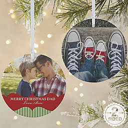 Classic Holiday 2-Sided Matte Christmas Ornament