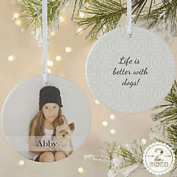 Pet Photo Memories 2-Sided Matte Christmas Ornament