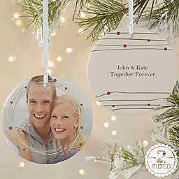 Holiday Wreath 2-Sided Matte Christmas Ornament