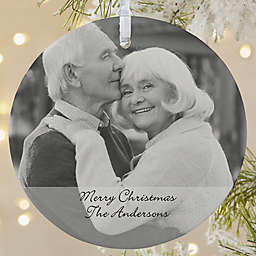 Photo Sentiments 1-Sided Matte Christmas Ornament