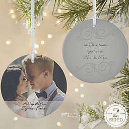 Photo Sentiments 2-Sided Matte Christmas Ornament