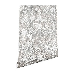 Deny Designs Schatzi Brown Eden Floral Sand Peel and Stick Wallpaper