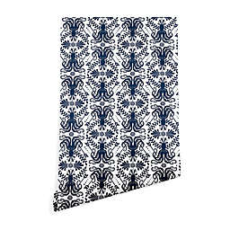 Deny Designs Heather Dutton Mythos Oceanic 2-Foot x 10-Foot Peel and Stick Wallpaper in Blue