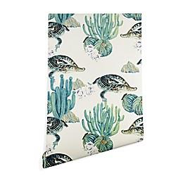 Deny Designs Marta Barragan Camarasa Crocodile Cactus Peel and Stick Wallpaper