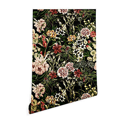 Deny Designs Marta Barragan Camarasa Dark Bloom Peel and Stick Wallpaper