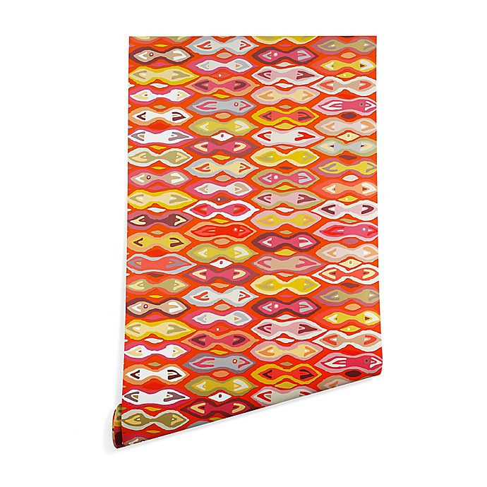 Alternate image 1 for Deny Designs Sharon Turner Raveena Ikat Peel and Stick Wallpaper
